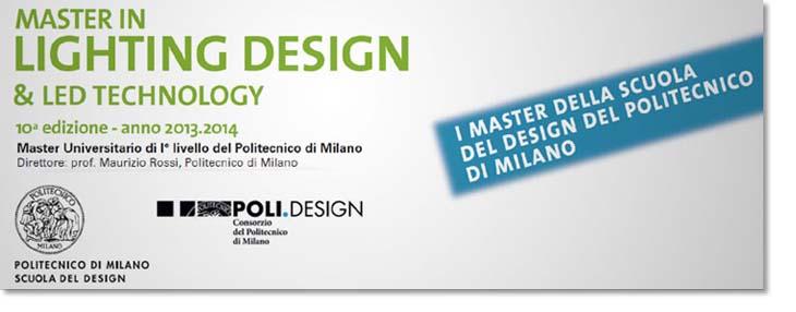 Master in lighting design led technology for Politecnico milano iscrizione
