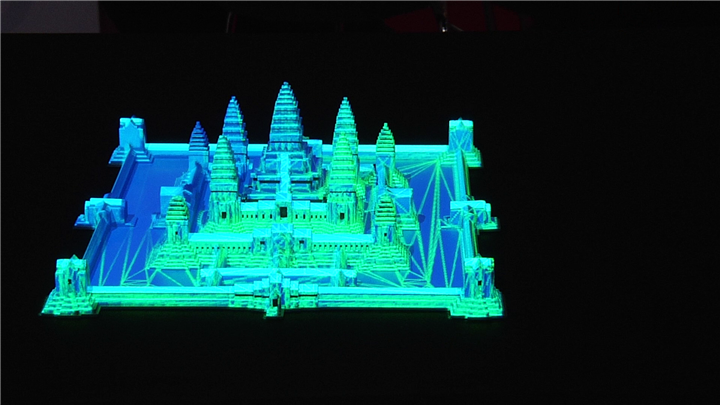 Mapping 3D all'interno dello stand Coolux