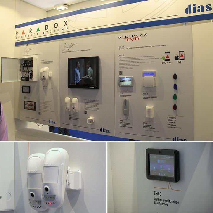 Sistema Paradox Insight, con rilevatori HD77 e touchscreen TM50
