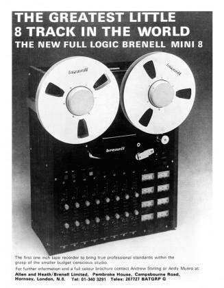 advert - brenell mini 8 - studio sound - december 1977