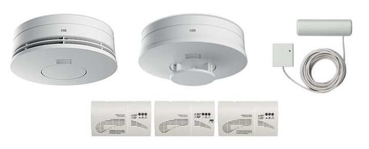 Sensori wireless di rivelazione fumo, calore, allagamento e gas