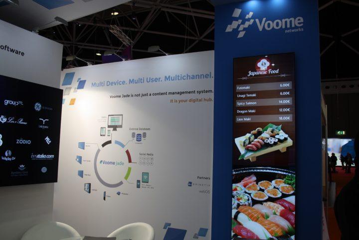 Il CMS per digital signage Voome Jade torna in mostra ad ISE 2017, con novità per il mondo corporate e retail