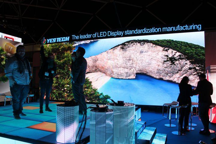 Yes Tech presenta nuovi LEDwall e il nuovo MG7 P4.8 ad ISE 2017