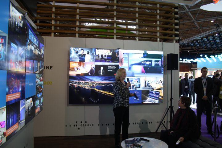 La tecnologia futuristica di Oblong a ISE con il nuovo sistema Mezzanine