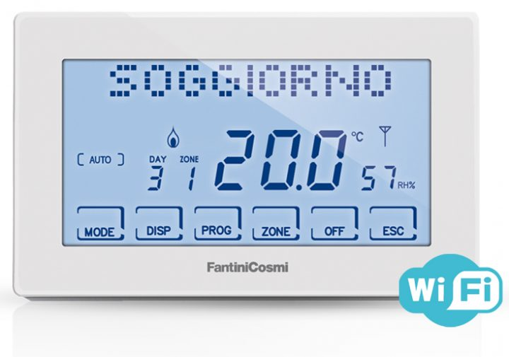 Intellicomfort ch180 rf wifi cronotermostato di fantini for Cronotermostato fantini cosmi ch180